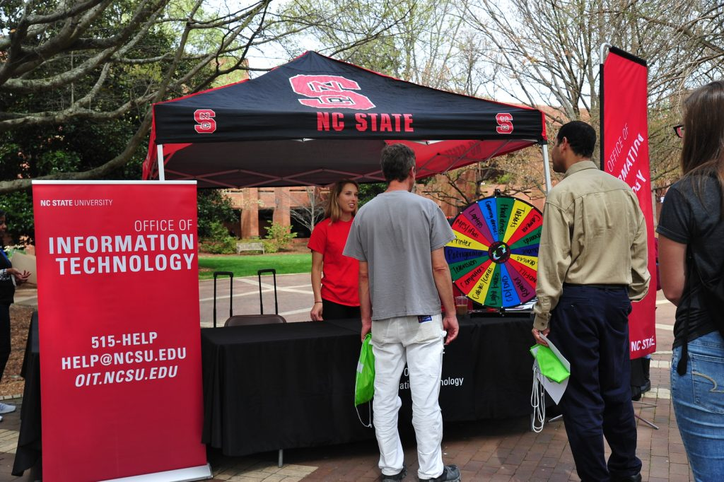 OIT staff participate in NC State's Earth Day activities