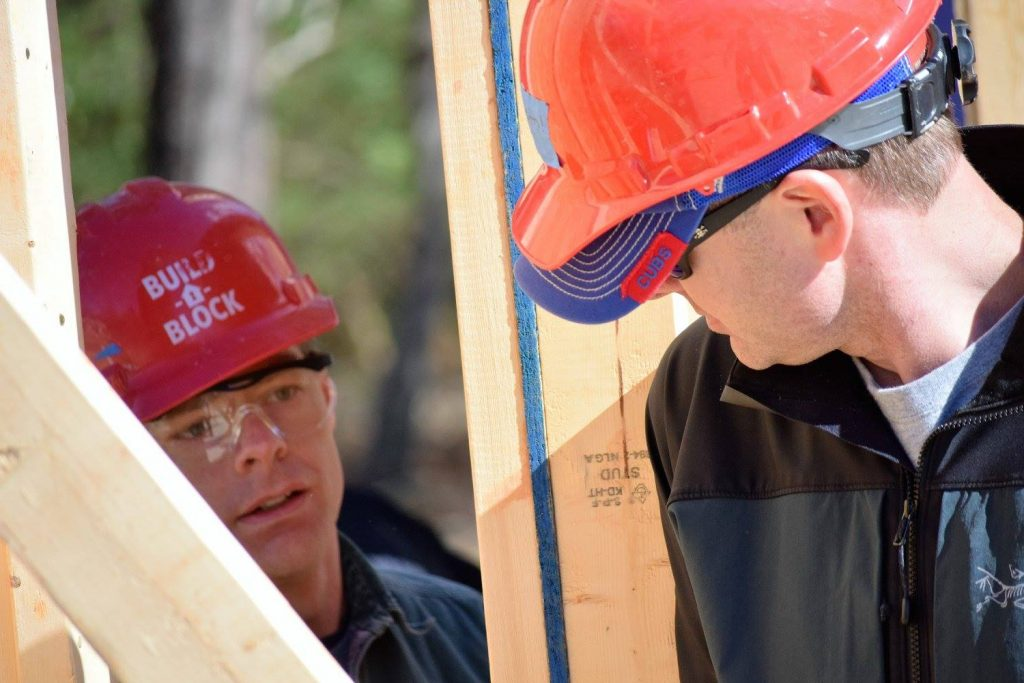 OIT staff volunteer at the NC State-sponsored Habitat for Humanity Build-a-Block project