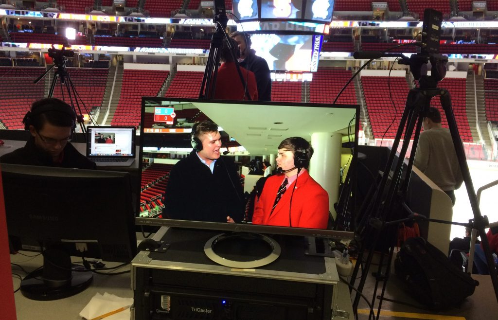 PackTV broadcasts live from PNC Arena for the NC State versus UNC club hockey game