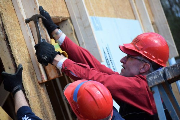 OIT-OCC Director Stan North Martin at work at the NC State-sponsored Habitat for Humanity Build-a-Block
