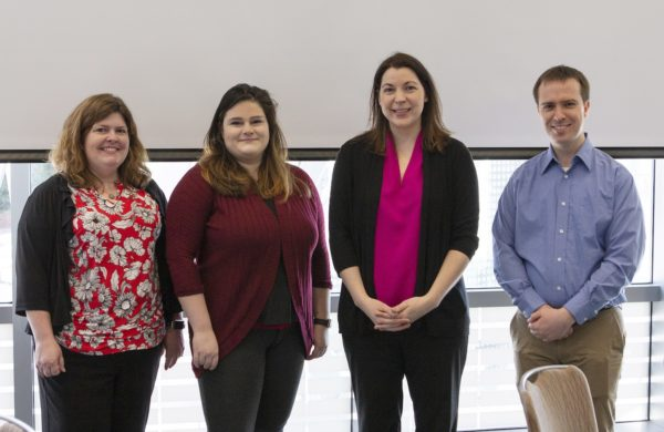 "Picture of excellence! Recognized for their ""meritorious accomplishments and contributions, OIT Division Awards for Excellence winners, pictured from left to right, are Cheri Pipkin, Natalie Boone, Katie McInerney and Brian DeConinck."